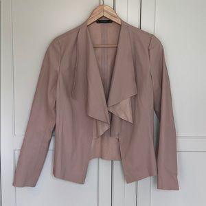 Zara Faux Leather Jacket Sz S DG